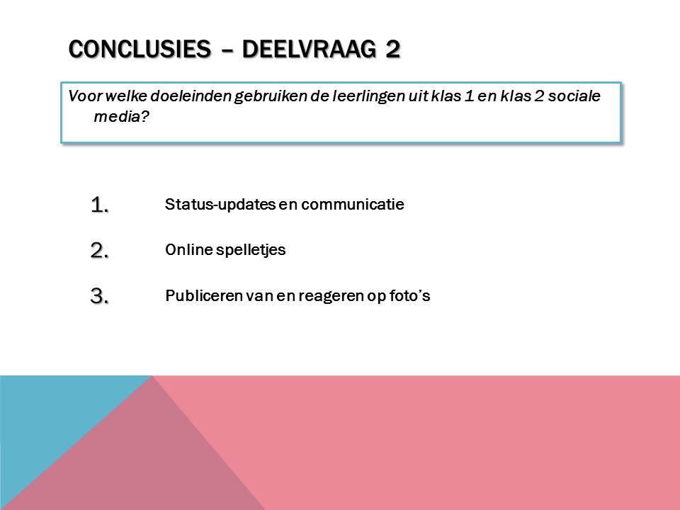 Conclusies – Deelvraag 2