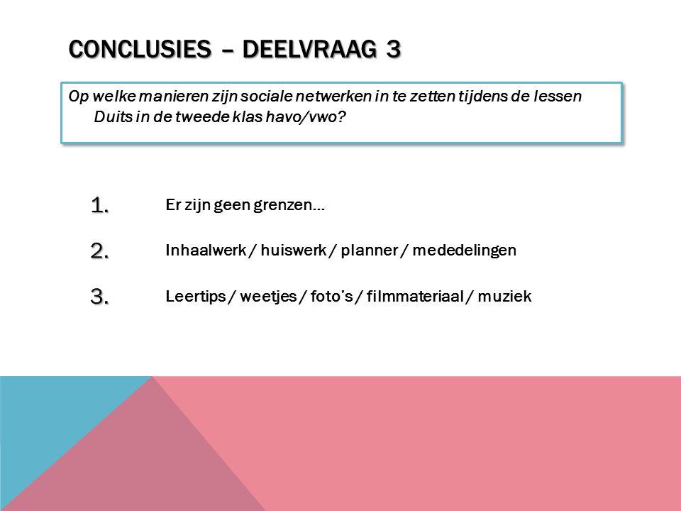 Conclusies – Deelvraag 3