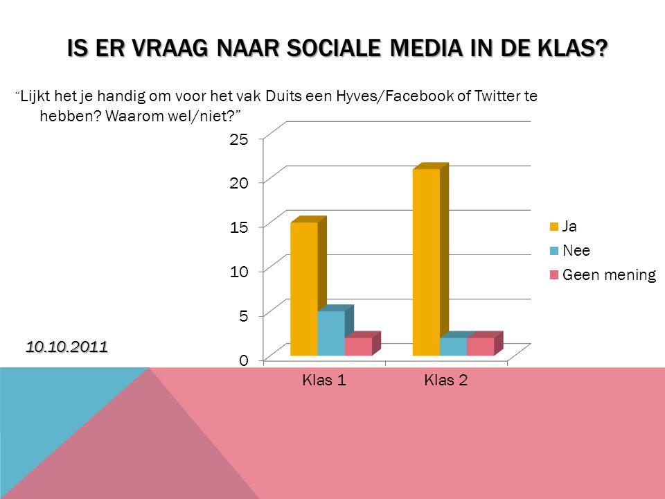 Is er vraag naar sociale media in de klas