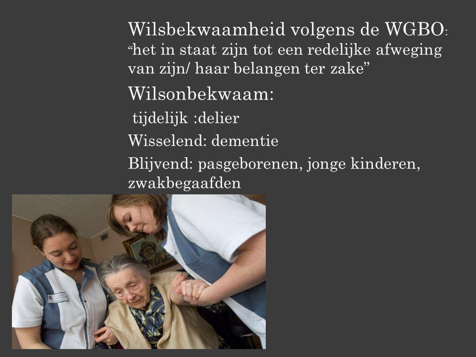 Wilsbekwaamheid volgens de WGBO: het in staat zijn tot een redelijke afweging van zijn/ haar belangen ter zake