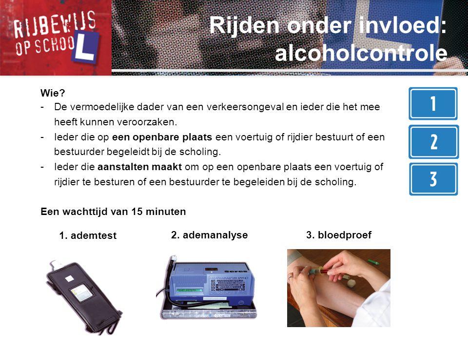 Rijden onder invloed: alcoholcontrole