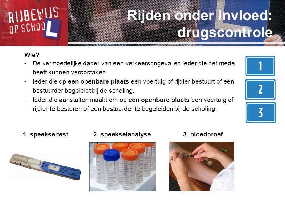 Rijden onder invloed: drugscontrole