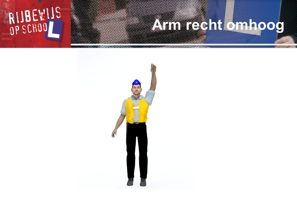 Arm recht omhoog