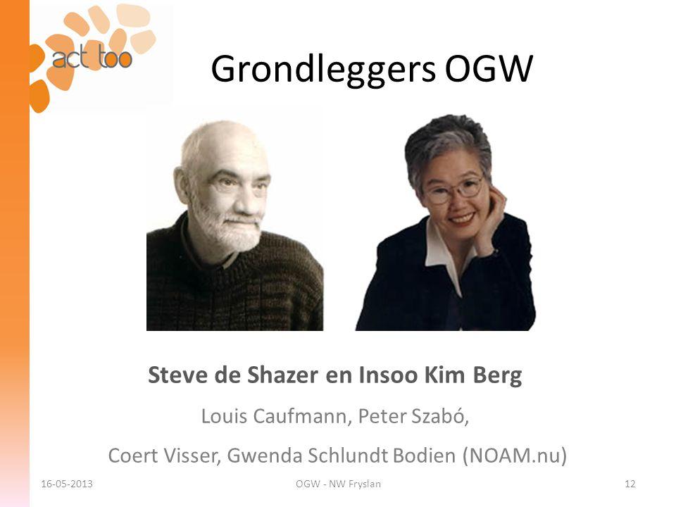 Steve de Shazer en Insoo Kim Berg