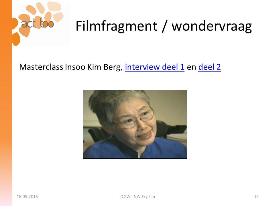 Filmfragment / wondervraag