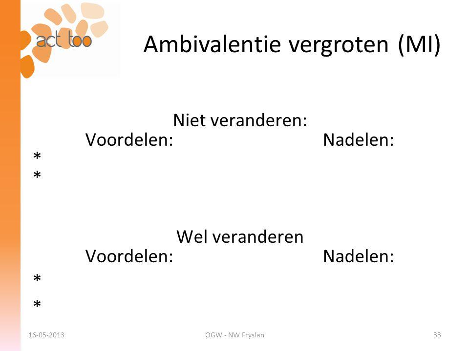 Ambivalentie vergroten (MI)
