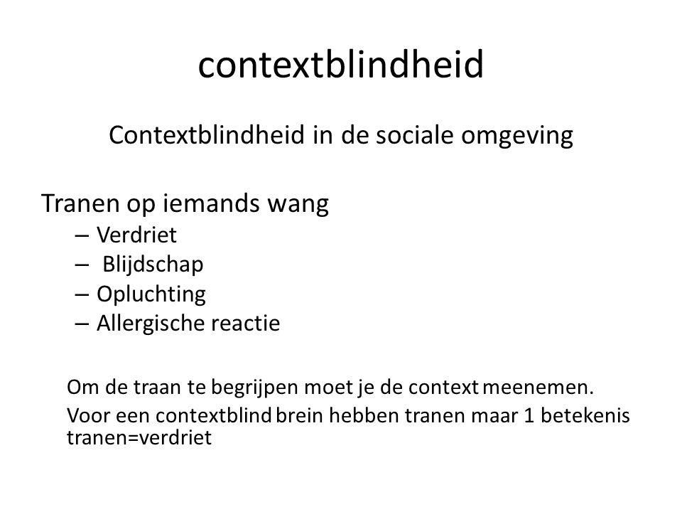 Contextblindheid in de sociale omgeving
