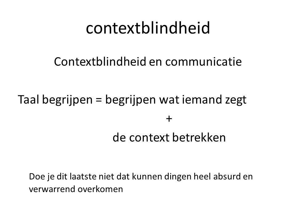 contextblindheid