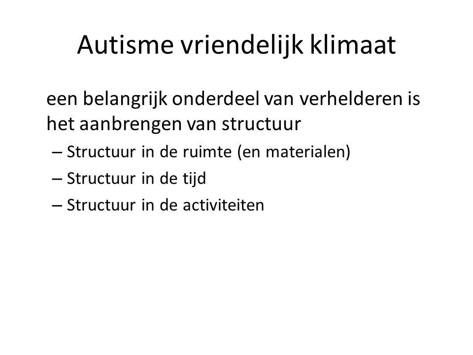 Autisme vriendelijk klimaat