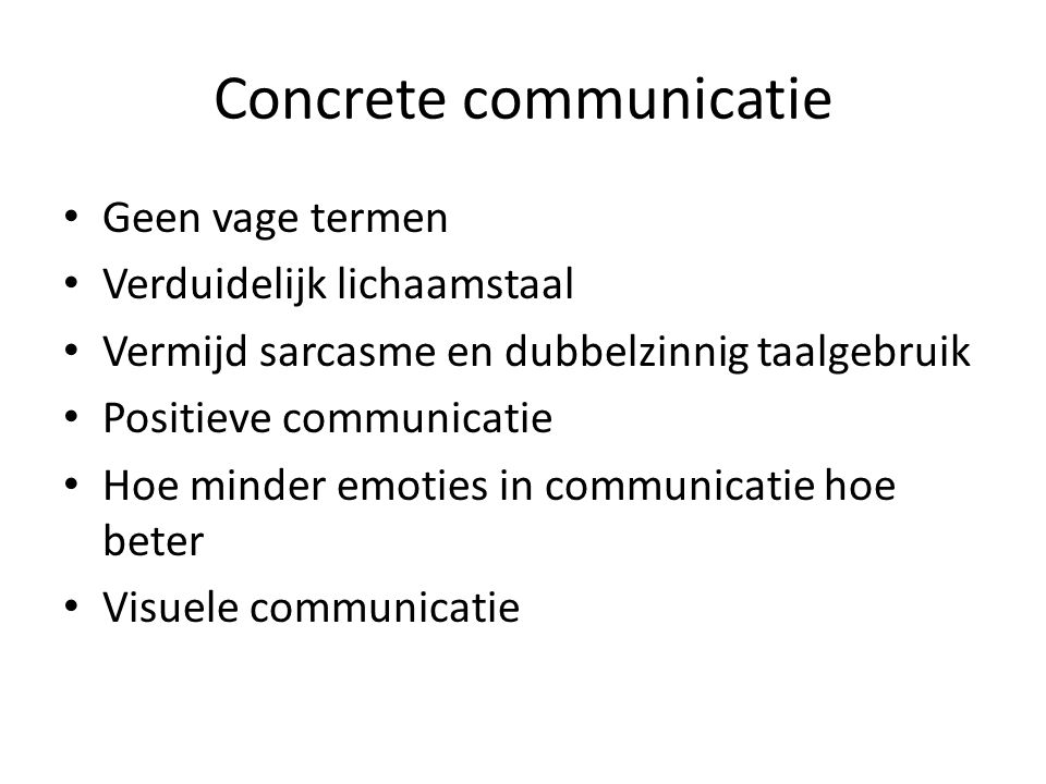 Concrete communicatie