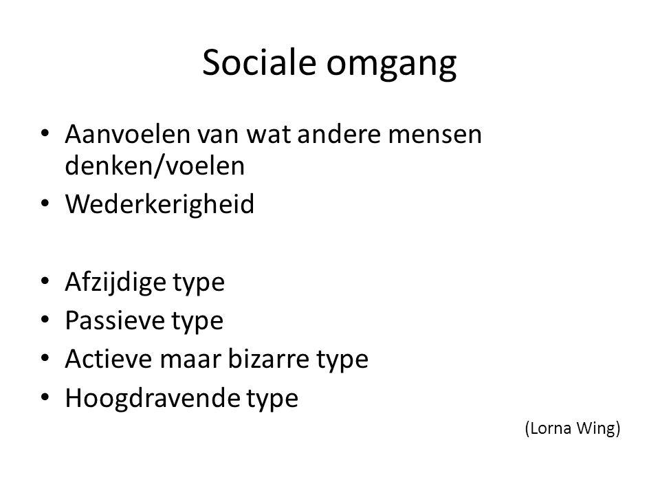 Sociale omgang Aanvoelen van wat andere mensen denken/voelen