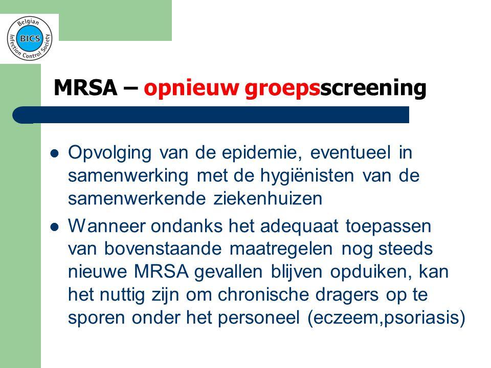 MRSA – opnieuw groepsscreening
