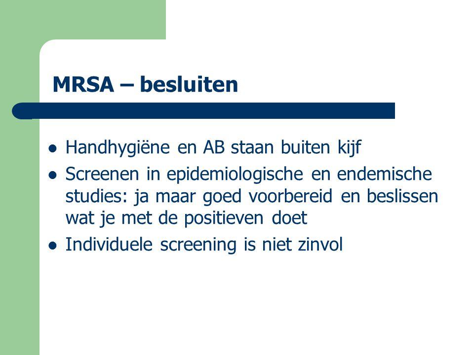 MRSA – besluiten Handhygiëne en AB staan buiten kijf