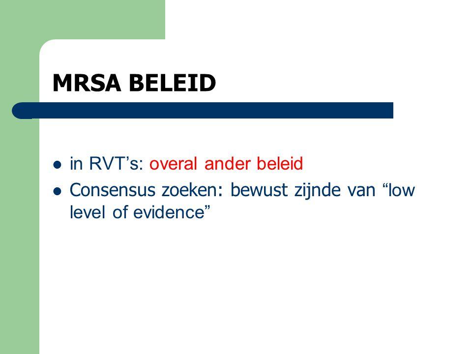 MRSA BELEID in RVT's: overal ander beleid