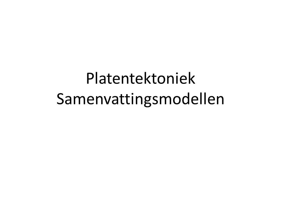 Platentektoniek Samenvattingsmodellen