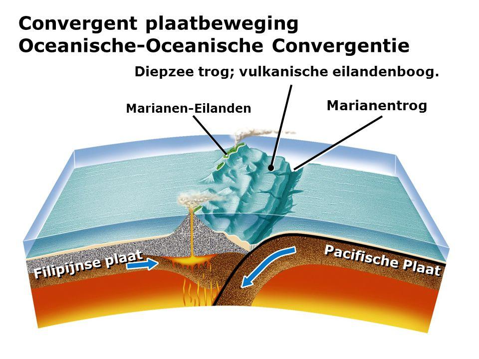 Diepzee trog; vulkanische eilandenboog.
