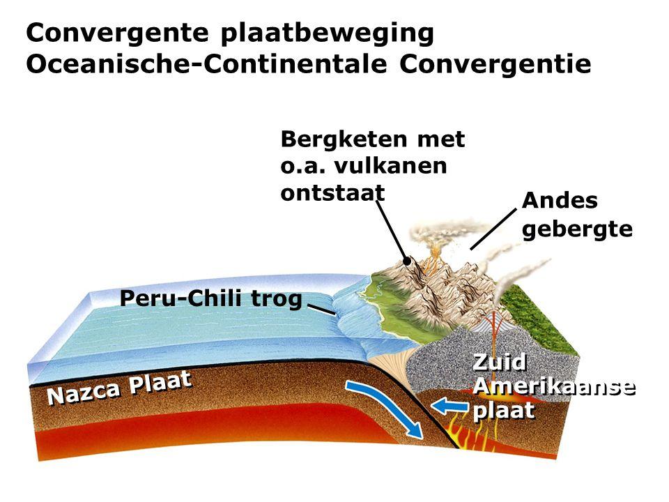 Convergente plaatbeweging Oceanische-Continentale Convergentie