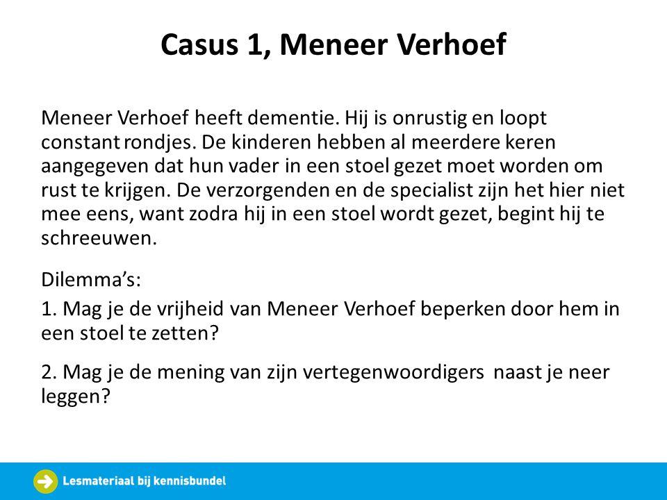 Casus 1, Meneer Verhoef