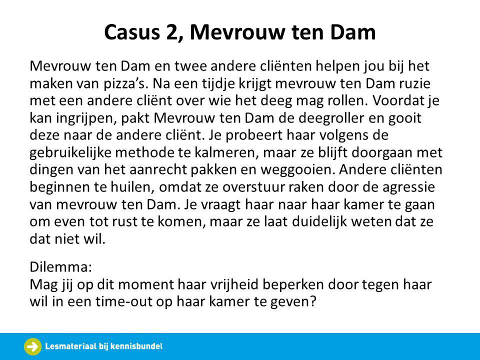 Casus 2, Mevrouw ten Dam