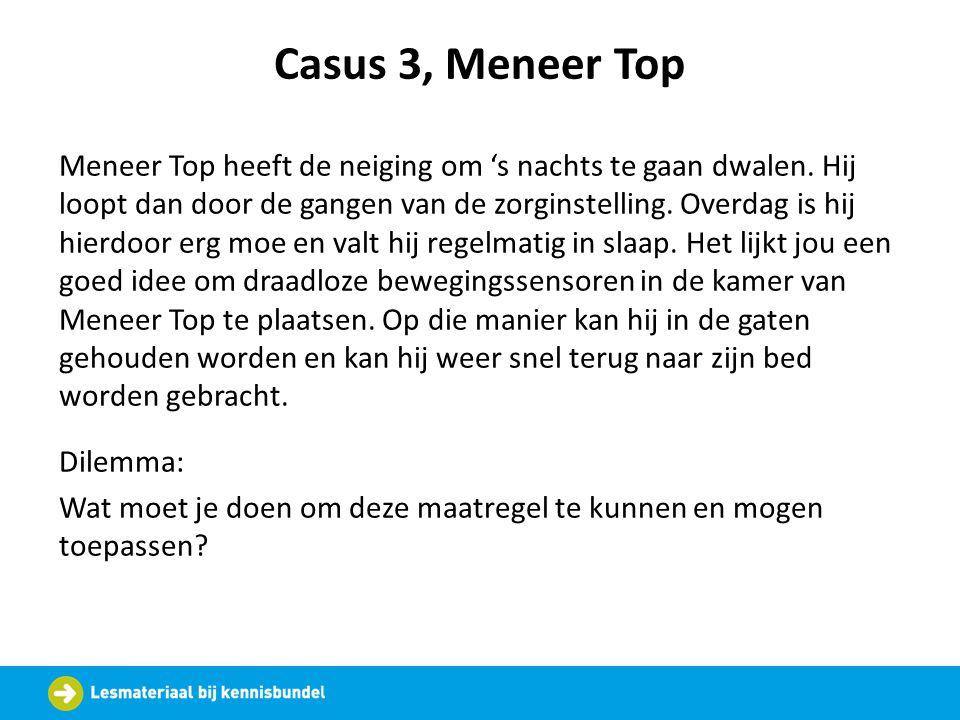 Casus 3, Meneer Top