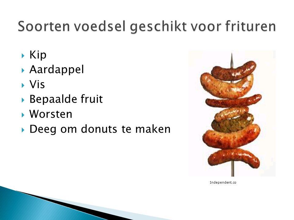 Soorten voedsel geschikt voor frituren