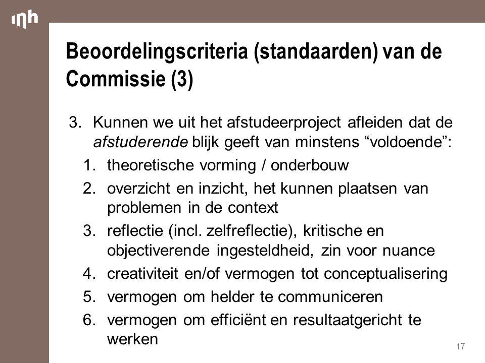Beoordelingscriteria (standaarden) van de Commissie (3)