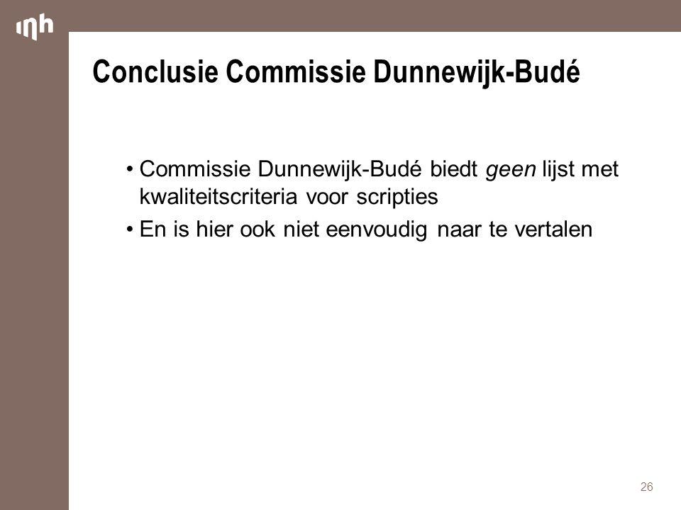 Conclusie Commissie Dunnewijk-Budé