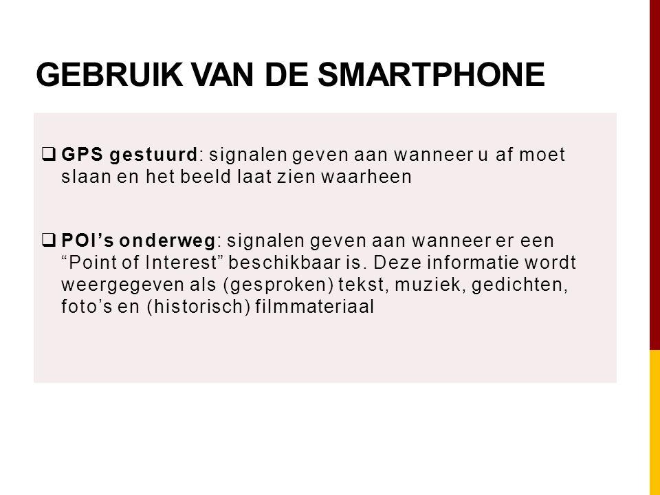 Gebruik van de smartphone