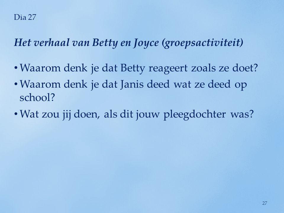 Het verhaal van Betty en Joyce (groepsactiviteit)
