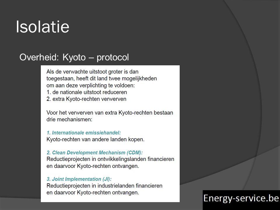 Isolatie Overheid: Kyoto – protocol