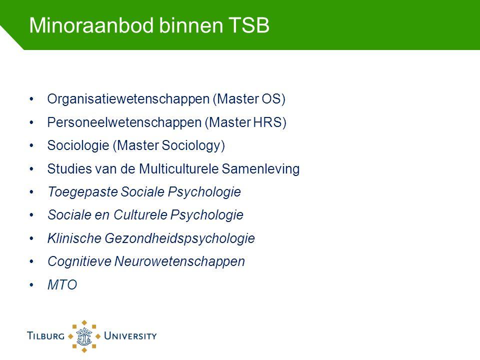 Minoraanbod binnen TSB