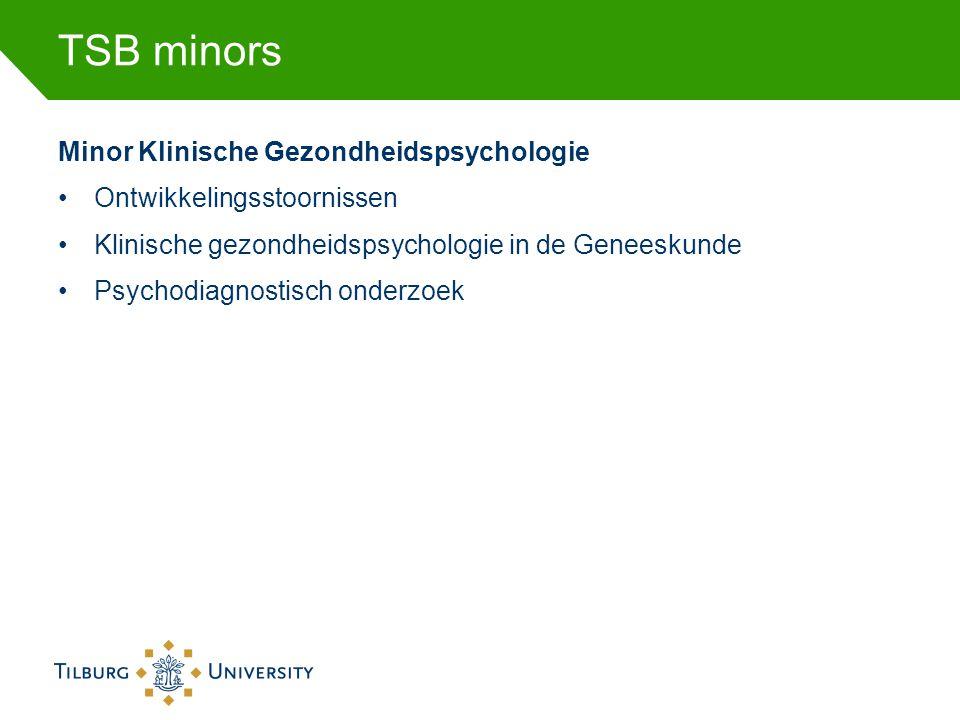 TSB minors Minor Klinische Gezondheidspsychologie