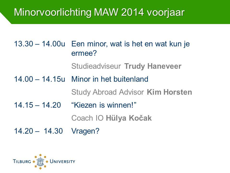 Minorvoorlichting MAW 2014 voorjaar