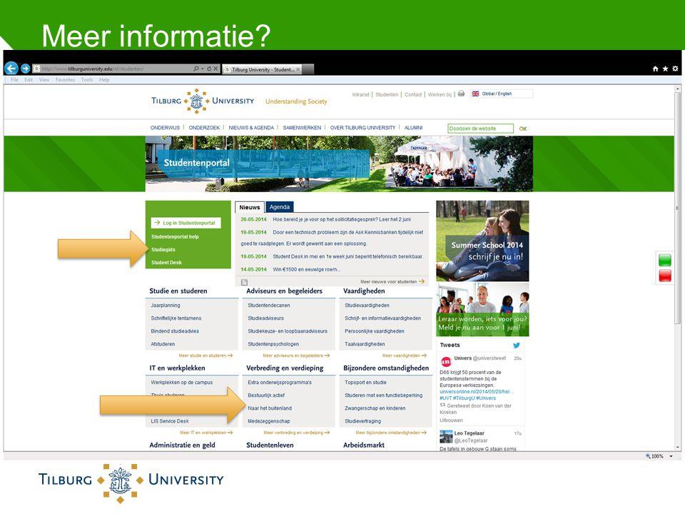 Meer informatie http://www.tilburguniversity.edu/nl/studenten/