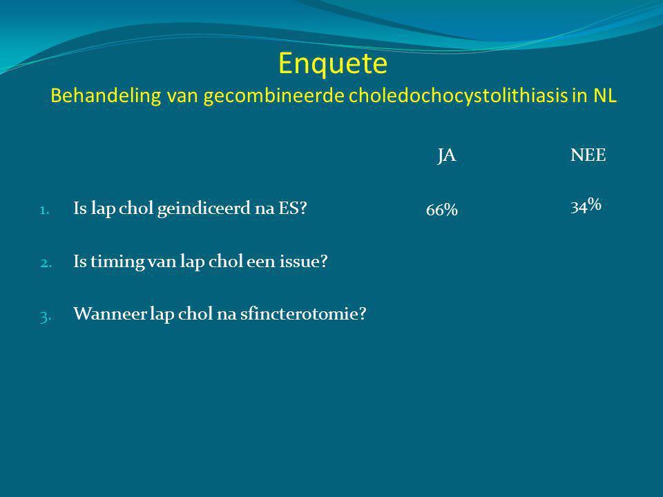 Enquete Behandeling van gecombineerde choledochocystolithiasis in NL
