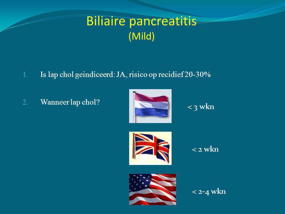 Biliaire pancreatitis (Mild)