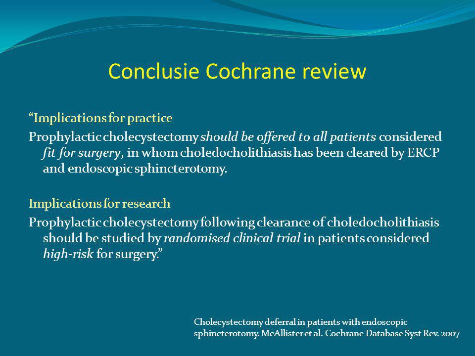 Conclusie Cochrane review