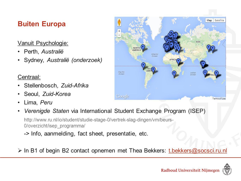 Buiten Europa Vanuit Psychologie: Perth, Australië