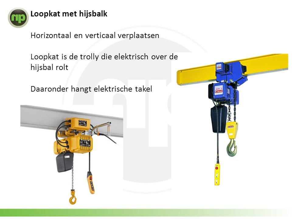 Loopkat met hijsbalk Horizontaal en verticaal verplaatsen. Loopkat is de trolly die elektrisch over de hijsbal rolt.