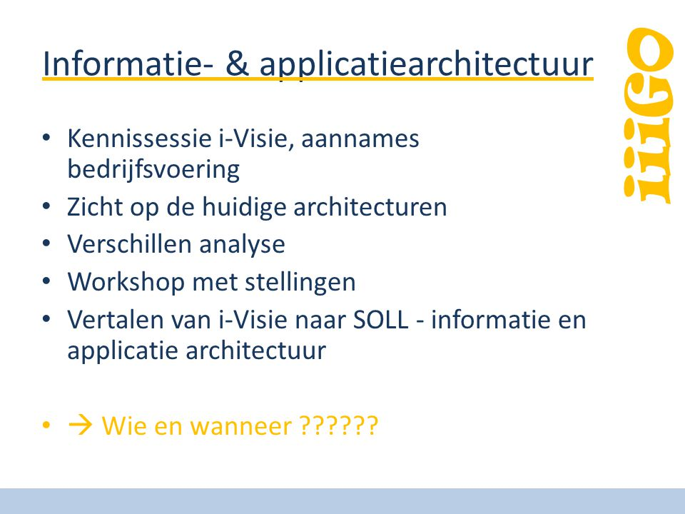 Informatie- & applicatiearchitectuur