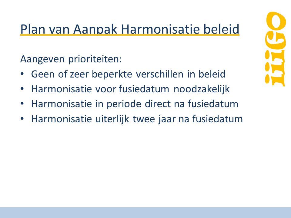 Plan van Aanpak Harmonisatie beleid