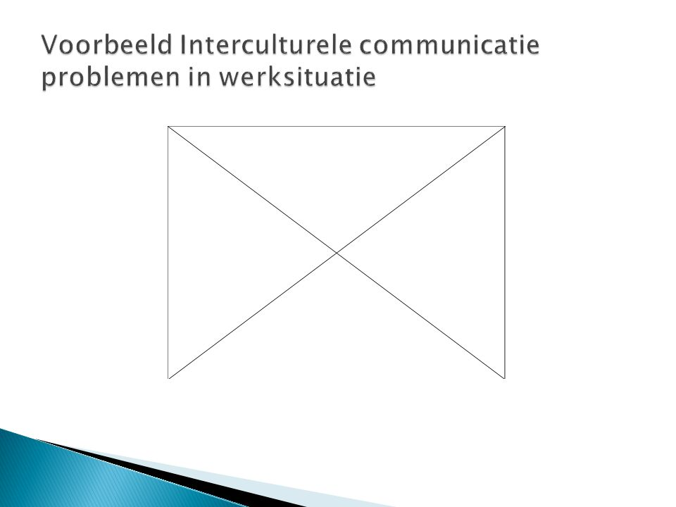 Voorbeeld Interculturele communicatie problemen in werksituatie