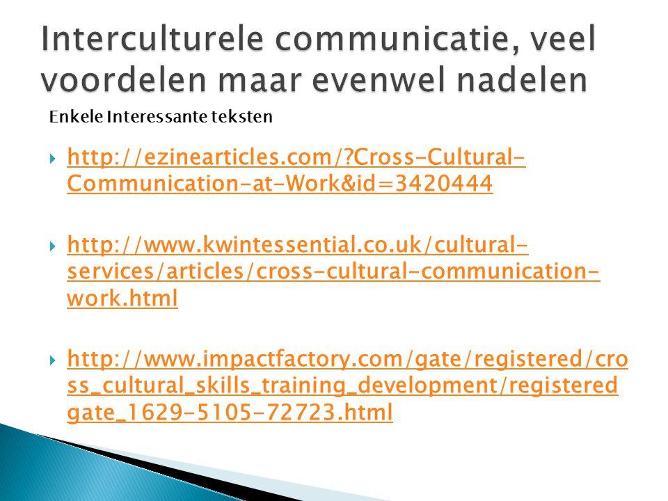 Interculturele communicatie, veel voordelen maar evenwel nadelen