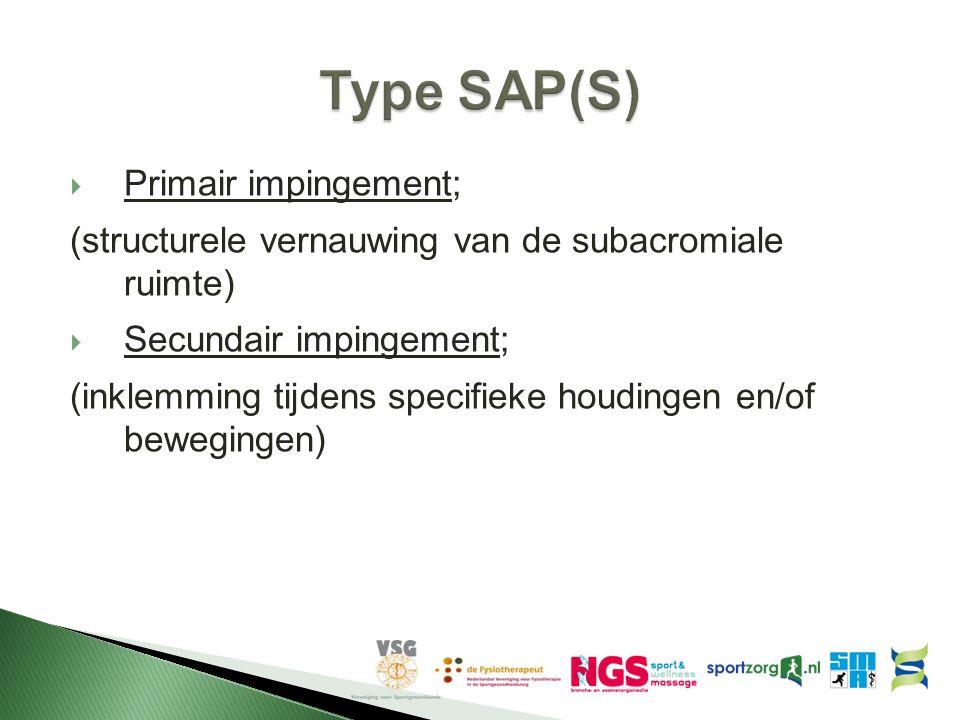 Type SAP(S) Primair impingement;