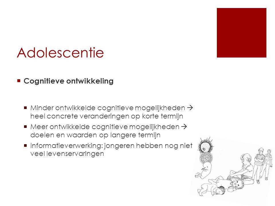 Adolescentie Cognitieve ontwikkeling