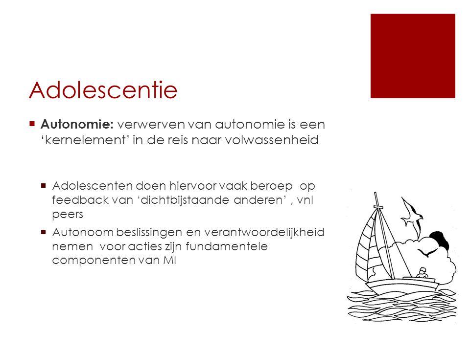 Adolescentie Autonomie: verwerven van autonomie is een 'kernelement' in de reis naar volwassenheid.
