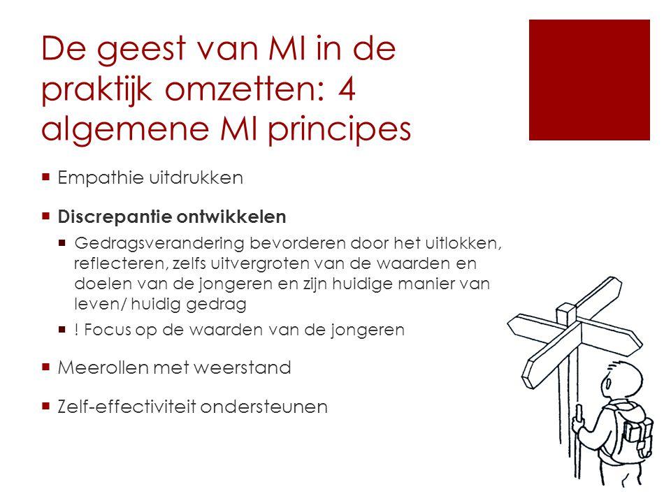 De geest van MI in de praktijk omzetten: 4 algemene MI principes