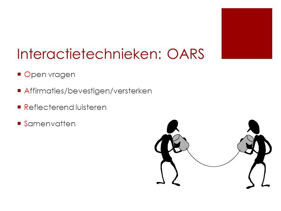 Interactietechnieken: OARS