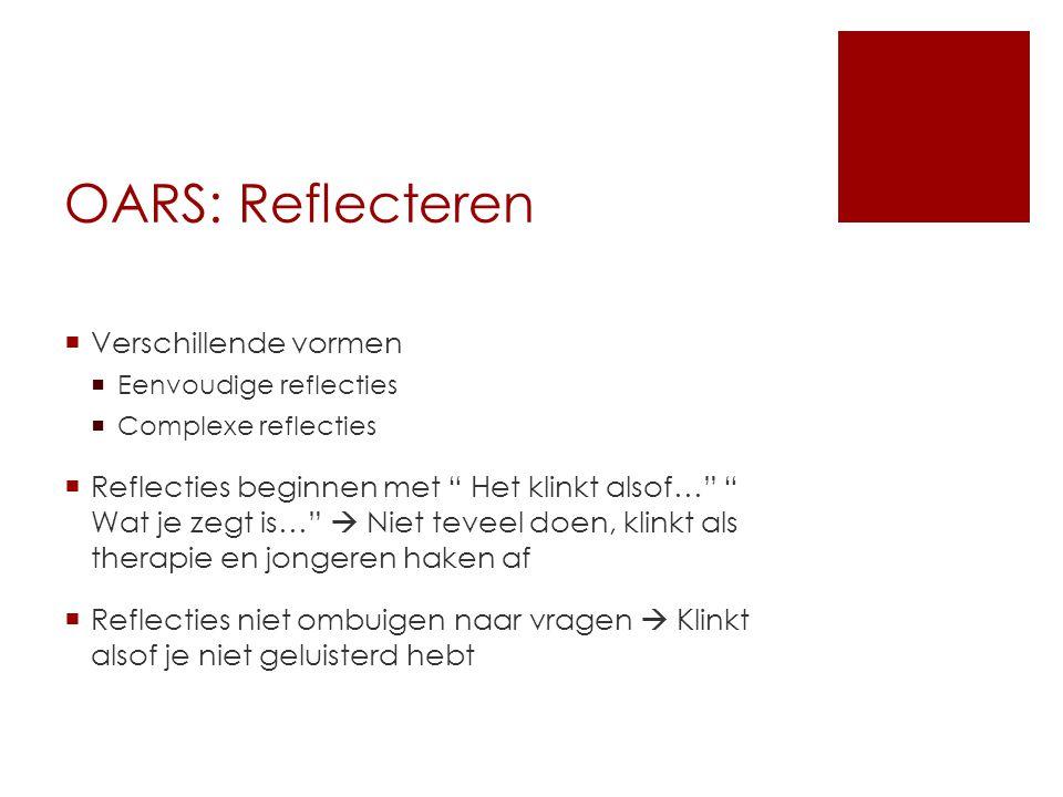 OARS: Reflecteren Verschillende vormen