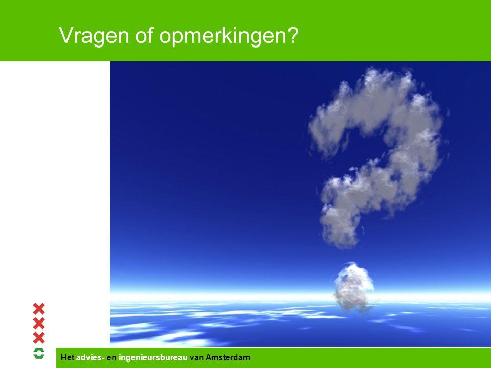 Vragen of opmerkingen Titel presentatie Gemeente Amsterdam